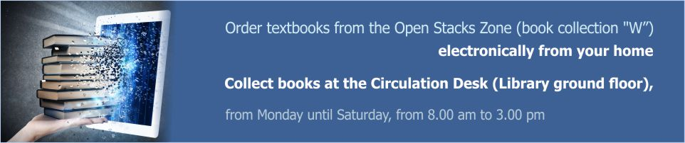 Order textbooks from the Open Stacks Zone via computer library catalogue